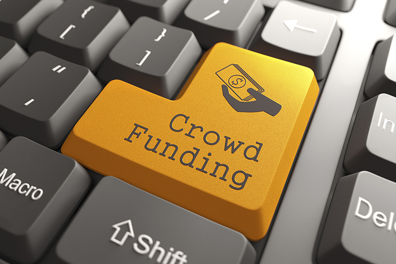 keyboard that says Crowd Funding