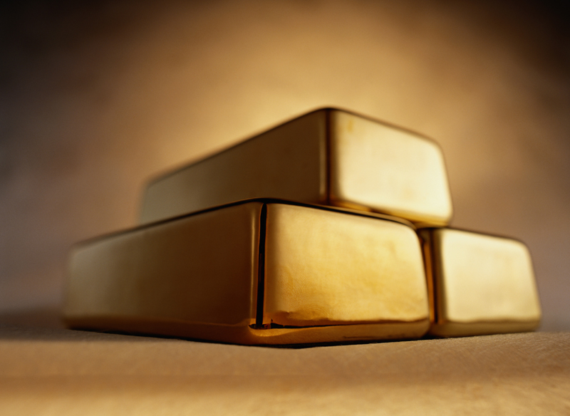 three bars of gold